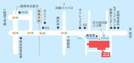 日隈病院へのアクセス